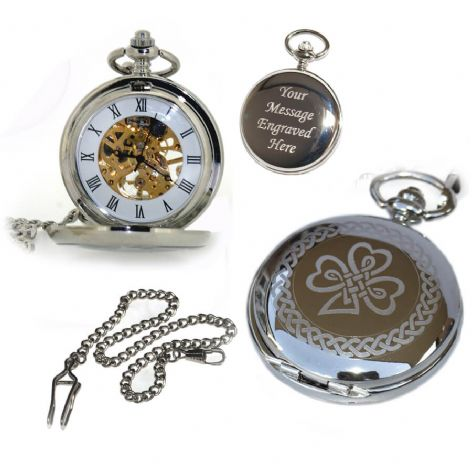 Irish Mechanical Skeleton Pocket Watch